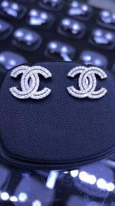Bông tai Chanel Full xoàn tấm thiên nhiên -Ms 7b800117