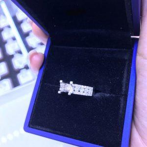 Vỏ nhẫn nữ Full kim cương thiên nhiên vàng 750, hột chủ nhận từ 5.0-5.4 li-Mã sp Ms7n800286